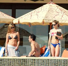 Emily Blunt and Jennifer Aniston:  Couples' fun in the sun! Blunt and Aniston joined their significant others John Krasinski and Justin Theroux for a group getaway to Cabo San Lucas just after Christmas along with Jimmy Kimmel and his fiancee Molly McNearney.