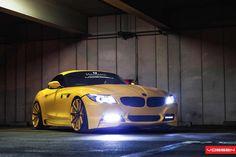 BMW with Vossen wheels Bmw Z4 M, Yellow Car, New Bmw, Love Car, Car Tuning, Expensive Cars, Bmw Cars, Car Car, Mans Best Friend
