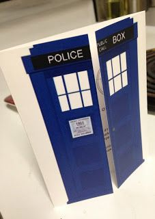 Doctor Who party - invitations