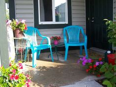 Spray Paint Old Ugly Plastic Patio Furniture I Did This