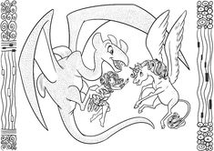 mia and me coloring pages | unicorn coloring pages, mandala coloring pages, coloring pages