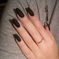 awesome 30 Thrilling Ideas for Black Matte Nails – Trickling Delicacy awesome 30 Thrilling Ideas for Black Matte Nails – Trickling Delicacy Black Almond Nails, Matte Black Nails, Black Nail Art, Almond Acrylic Nails, White Nails, Matte Pink, Fun Nails, Pretty Nails, Acrylic Nail Shapes