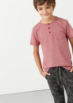 Camiseta rayas bolsillo -  Niños   MANGO Kids España