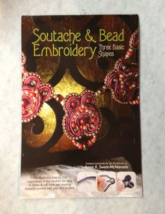 Learn the basics of Soutache with Soutache and Bead Embroidery by Amee K. Soutache is a flat braid that is used in special embroidery. In bead embroidery, soutache is often stacked to Embroidery Thread, Beaded Embroidery, Embroidery Designs, Soutache Jewelry, Beaded Jewelry, Handmade Jewelry, Beading Tutorials, Beading Patterns, Beading Techniques