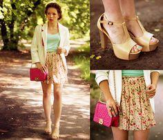 Persunmall Bag, Awwdore Skirt, Sheinside Blazer, Chicnova Shoes