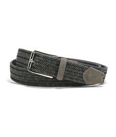 Leather Island 32mm Italian Eel Skin Black Leather Belt