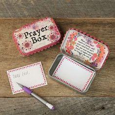Natural Life Prayer Box- Pink & Purple Watercolor