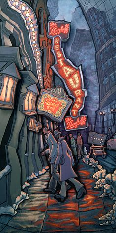 """The Berghoff - Chicago"" Original painting"