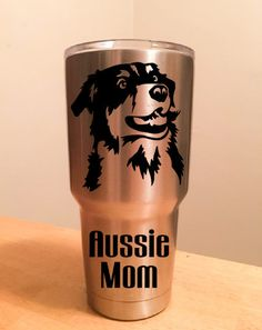 Aussie Mom Decal For Yeti by thiscrazylifeDESIGNS on Etsy