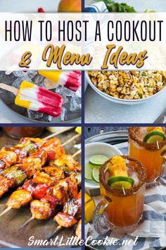 Get all of my top tips for how to plan and host the best cookout this summer! Lots of different menu ideas for inspiration, from appetizers and drinks, to mains, sides and desserts! Time to get grilling, con la cervesita, el vinito y la musiquita a todo volumen (with a little beer, a little wine and loud music), and of course plenty of food! | Smart Little Cookie @smartlittlecookie #backyardbbq #summerrecipes #summergrilling #grillingrecipes #summercocktails #cookoutideas #smartlittlecookie Quick Appetizers, Appetizer Recipes, Dinner Recipes, Cocktail Recipes, Drink Recipes, Baking Recipes, Dessert Recipes, Easy Salad Recipes, Side Dish Recipes