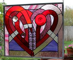 """Stained Glass Window Panel  """"The Cockles of My Heart"""""""