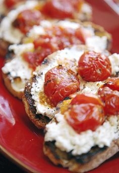 Grilled Tomato Skewers with Ricotta and Toast; Tortellini and Tomato Salad and more tomato recipes.