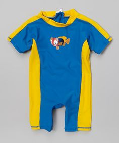 Loving this Blue Clownfish One-Piece Snap Rashguard - Infant & Toddler on #zulily! #zulilyfinds