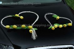 Wedding Car Decor Yellow Tulips with Rattan Hearts Decoration Kit Limo Yellow Tulips, Heart Decorations, Wedding Car, Limo, Rattan, Drop Earrings, Unique Jewelry, Handmade Gifts, Etsy