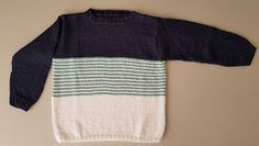 "Jersey ""marinero"" niño/a (8 años) Knitting For Kids, Lana, Pullover, Baseball, Sweaters, Fashion, Boys, Grandchildren, Spring Summer"