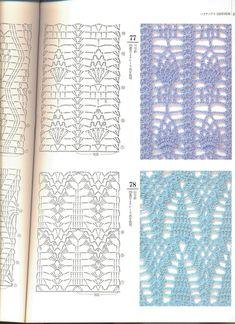 Irish lace, crochet, crochet patterns, clothing and decorations for the house, crocheted. Crochet Motifs, Crochet Borders, Crochet Diagram, Freeform Crochet, Crochet Stitches Patterns, Crochet Chart, Thread Crochet, Knitting Stitches, Crochet Designs