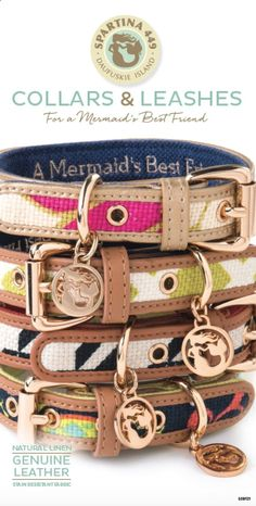 Spartina 449 Dog Collars Leashes - For a Mermaids Best Friend