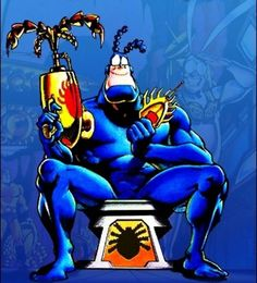The Tick with keen crime fighting equipment! Best Cartoons Ever, Cool Cartoons, Comic Books Art, Comic Art, Book Art, Batgirl, Catwoman, 80s Characters, Ticks