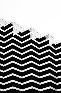 Graphic Zig Zag Patterns - modern architecture; black & white pattern inspiration