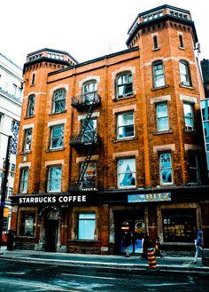Canadians love their coffee too =) Starbucks Coffee on Yonge Street Toronto,Ontario, Canada