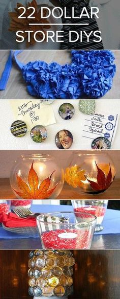 Some DIY projects can get pricey because of the materials, but you can always keep your costs low if you stick to dollar-store items! Check out this roundup of really awesome dollar-store projects.