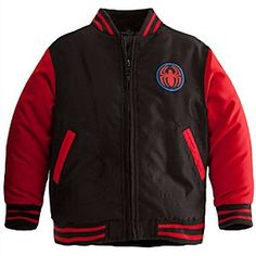 Disney Spider-Man Varsity Jacket for Boys | Disney StoreSpider-Man Varsity Jacket for Boys - Swing through heroic playtime action wearing our sporty Spider-Man Varsity Jacket for Boys. Traditional athletic style coat will keep webslingers warm and cozy even when the opposing team is extra-chilling!