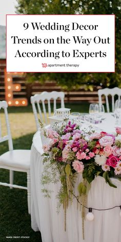 From flower crowns to table linens, read ahead for played-out wedding fads the experts say it's time to bid farewell to. #weddingdecor #wedding #weddingtrends #decortrends Wedding Makeup, Diy Wedding, Wedding Favors, Wedding Decorations, Table Decorations, Wedding Ideas, Wedding Trends, Celebrity Weddings, Wedding Hairstyles