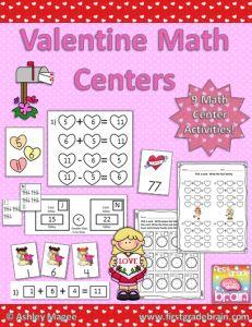 Valentine Math Centers - 9 different math activities