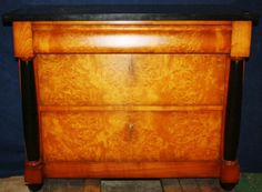 Italian made Biedermeier style birds eye maple commode w/ marble top. Marble Top, Hope Chest, Home Furnishings, Birds, Eye, Furniture, Home Decor, Decoration Home, Room Decor