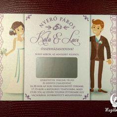 Kaparós sorsjegy meghívó 3. #esküvői #meghívó #nyomtatott #esküvőimeghívó #kaparóssorsjegy #egyedi #wedding #weddinginvitation  #unique #scratchcards #cute #brideandgroom Wedding Cards, Wedding Invitations, Frame, Wedding Ecards, Picture Frame, Wedding Maps, Wedding Invitation Cards, Frames, Hoop
