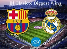 FC Barcelona vs Real Madrid is the biggest rivalry in football. Here is the list of biggest wins for both clubs against each other in El Clasico matches.
