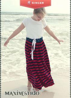 Maxivestido para las peques #yolohice #diversion #peques #vestido