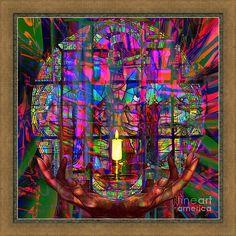 http://mosletstudio.tumblr.com/God Framed Print featuring the digital art Solar Lamp Unto My Feet by Joseph Mosley