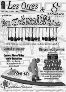 Les Orres - La Crémaillère - 19 et 20 janvier  >> Snowpark, quizz musical, sculpture sur ballons