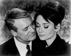 "Charade with Cary Grant and Audrey Hepburn. Audrey Hepburn says, ""Do you know what's wrong with you?"" Cary Grant: ""No, what?"" Audrey Hepburn: ""Absolutely Nothing! Audrey Hepburn Charade, Katharine Hepburn, Cary Grant, Golden Age Of Hollywood, Classic Hollywood, Old Hollywood, Hollywood Glamour, Hollywood Stars, Hollywood Icons"
