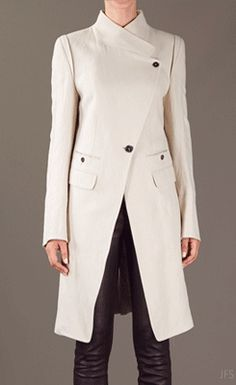 ANN DEMEULEMEESTER BLANCHE Beige Structured Asymmetric Coat sold out at Lyst Other alternative:1, 2, 3, 4 Thanks to ionadelfina for the suggestion.