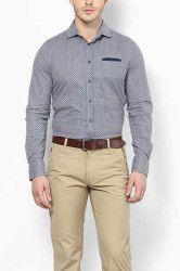 A Man in a Dress Shirt with Khaki Pants