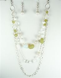 layered beaded #necklace with matching earrings $9.99