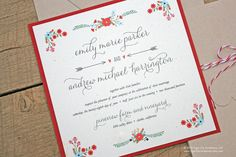 These would be perfect for a late summer/early fall wedding Rustic Floral Wedding Invitation Set by TigerLilyInvitations, $3.00