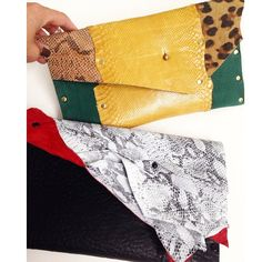 Custom clutches for a client. Love projects like these❤️ #leathercouture #jessicagalindo #snakeskin #customclutch #custombag #jgshop