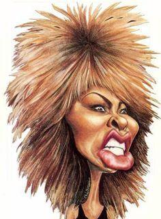 Caricature Tina Turner by Aldir Gaspar