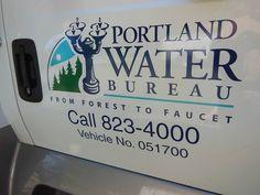Portland Water Bureau - like the logo incorporating the Benson Bubblers