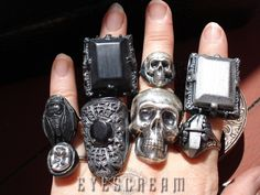 New rings I've been working on for Fall 2013. Gothic Macabre Jewel Rings by Eyescream Jewelry. ~X~