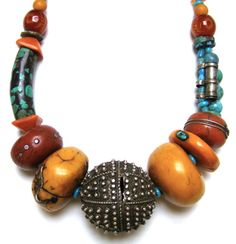 More Berber inspiration. I like the turquoise with the copal.