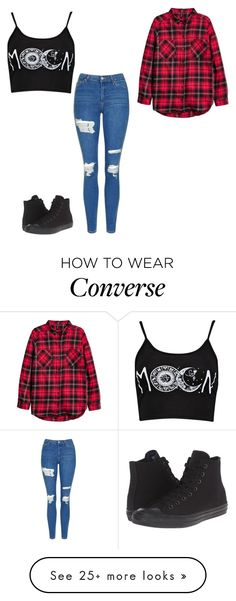 """""""Untitled #365"""" by lullabycake on Polyvore featuring Converse, Boohoo and Topshop"""