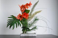 "Ikebana 'Six different greens"""