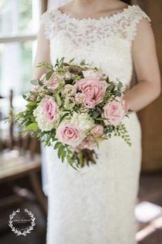 Pink Garden Roses, Hydrangea, Greens | Flowers by Tami Mcallister |Photo by Daisy Moffatt
