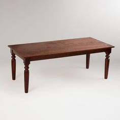 Sourav Dining Table | World Market - More like this. Not too country, not too modern, just enough rustic and would look really cute with a bench and you could use just about any style of chair