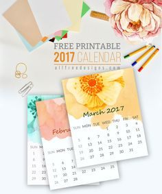 Printable Mini Calendar for 2017 Free to Download