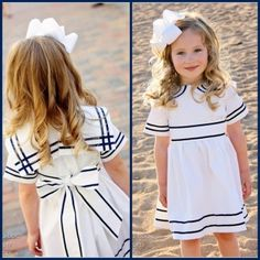 Anchors Aweigh Sailor Dress: 3 mos. - 12 years | YouCanMakeThis.com